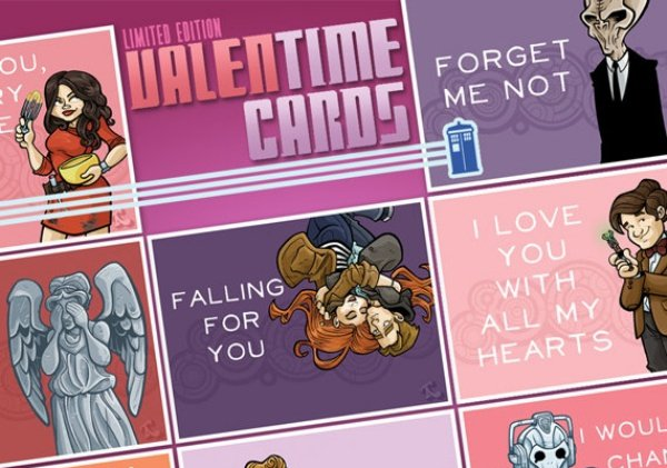 Spread Some Whovian Love: Doctor Who Valentine's Cards