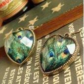 Boucles d'oreilles or, femme, coeur imprimé sur PriceMinister