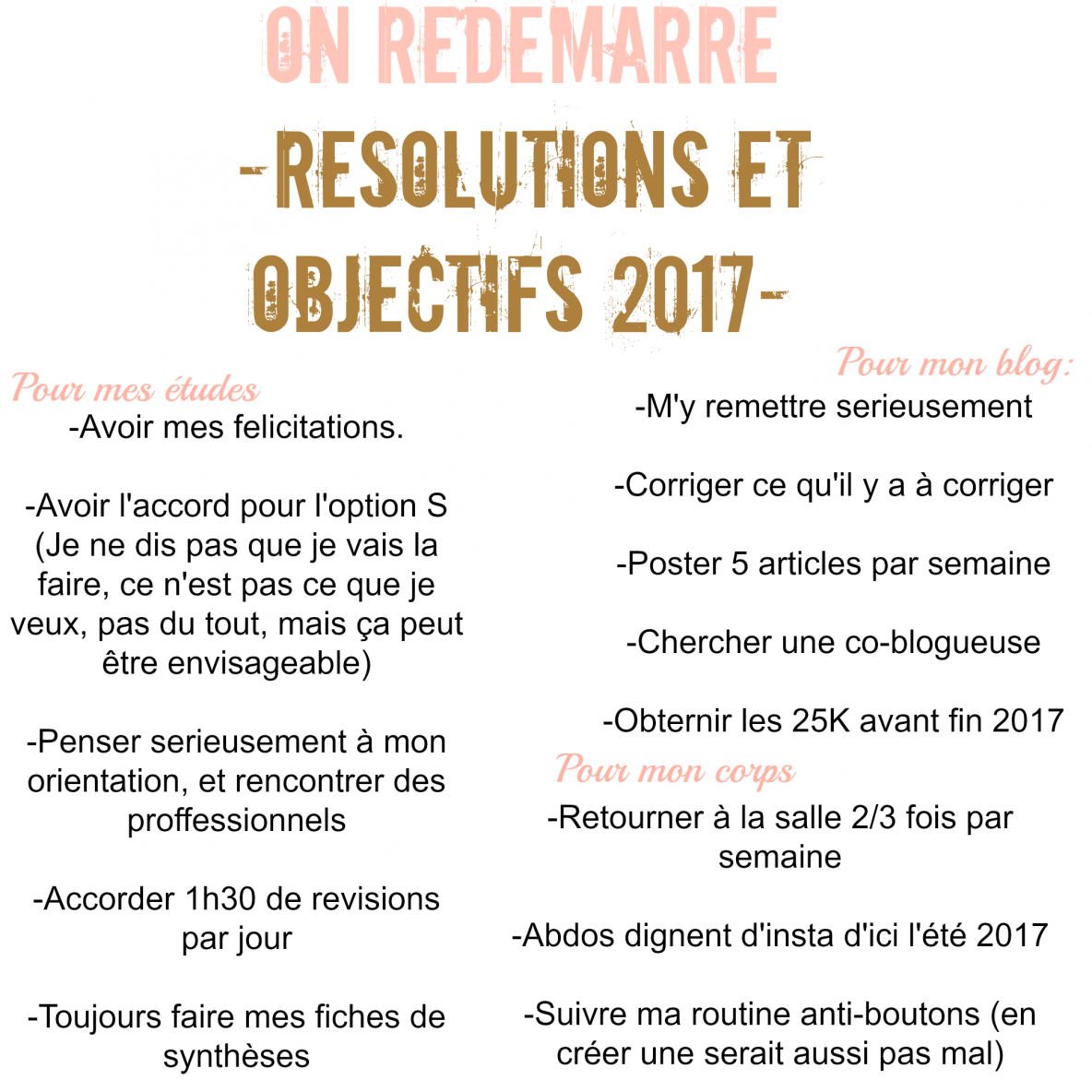 Resolutions et objectifs 2017 – Makeyaaah.com