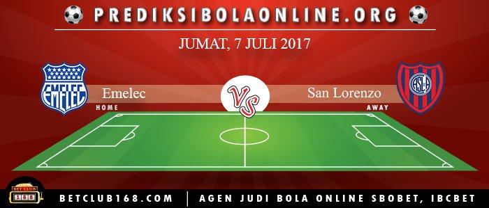 Prediksi Emelec Vs San Lorenzo 7 Juli 2017
