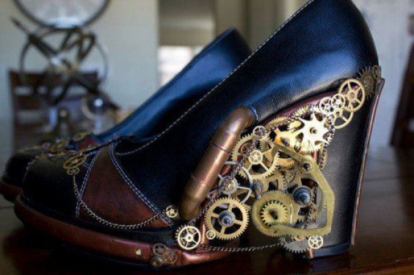 LEDs Take These Steampunk Heels Over The Edge In a Good Way