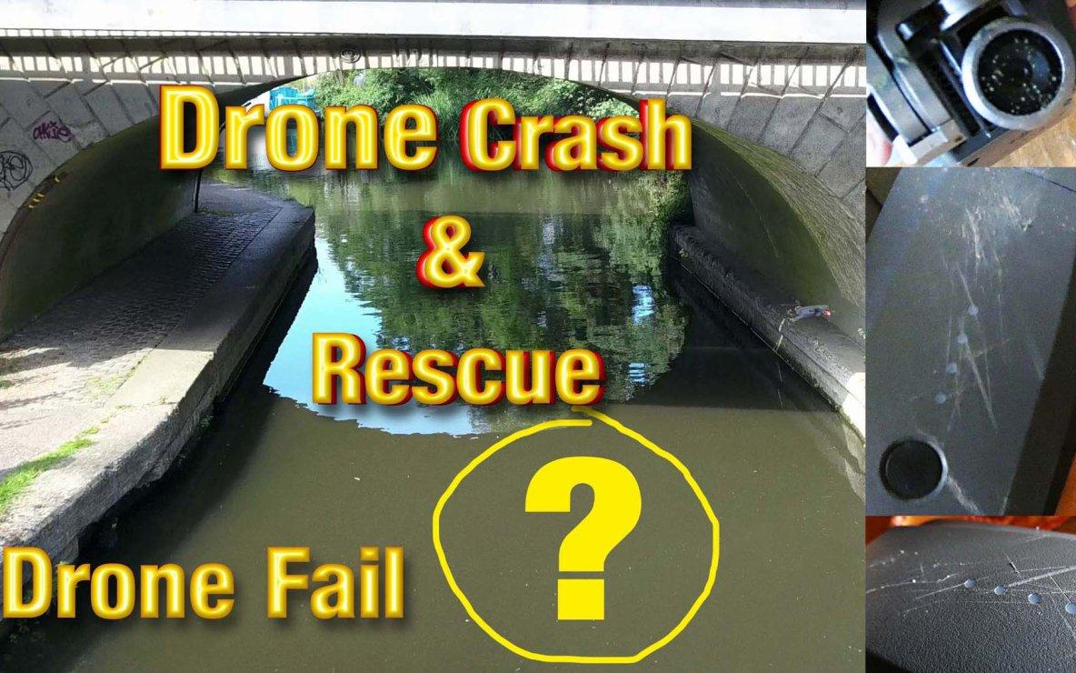 DJI Mavic Drone Crash at Deep Canal Water Gimbal Fail GPS Sensors Rescued