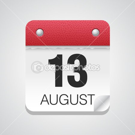 Calendar icon with August 13