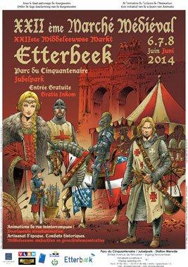 Mes parcours des voies d'eau par Pierre Lemoine: Inhabituel pour mes lecteurs...et pour moi: marché médiéval d'Etterbeek