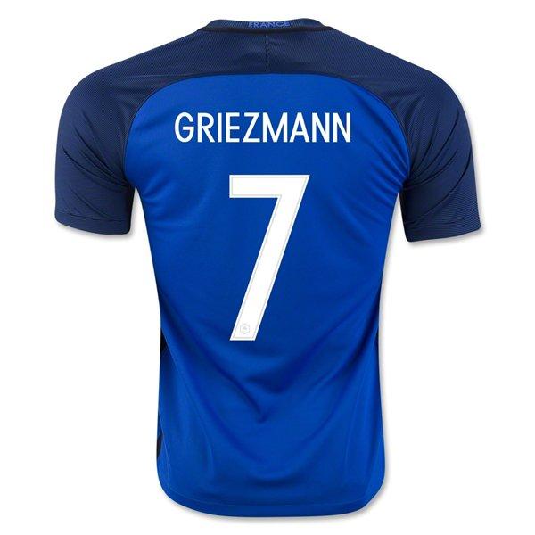 Maillot Griezmann France 2016 Domicile Maillot Equipe de France 2016 : 2016-2017 Maillot de Foot Pas Cher