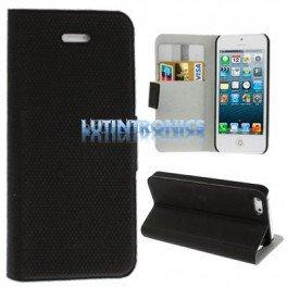 Etui Iphone 5 cuir ultra fin Porte cartes fonction horizontale - Lutintronics