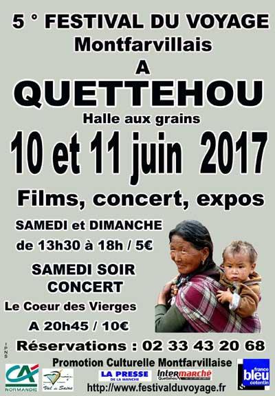 cinquieme Festival du voyage montfarvillais 10 et 11 juin 2017 a Quettehou Manche Normandie