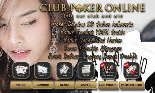 Agen Bandar Poker Domino Qiu Qiu QQ 99 Online Terpercaya