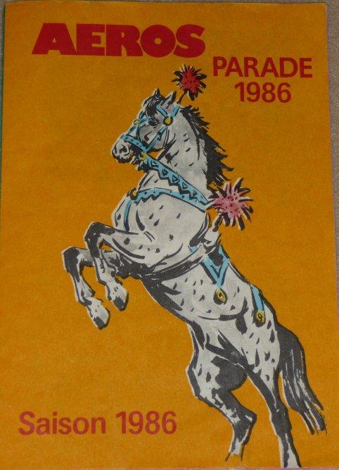 A vendre / On sale / Zu verkaufen / En venta / для продажи :  Programme AEROS Parade 1986