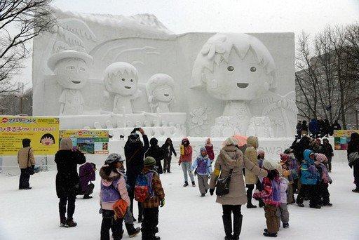 Sapporo Snow Festival 2013 in Japan