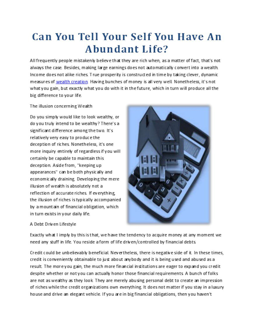 Can You Tell Your Self You Have An Abundant Life.pdf - PdfSR.com