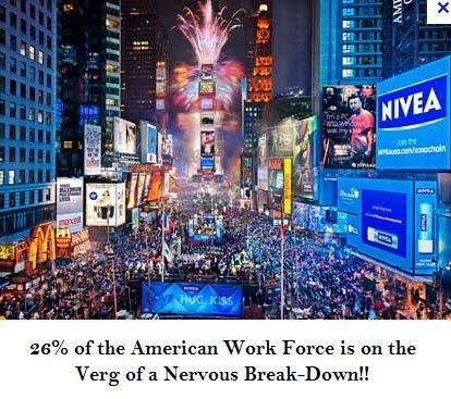 Dépression nerveuse de masse : des millions d'américains au bord du gouffre tandis qu'une pandémie de stress ravage la société