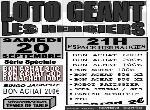Annonce 'LOTO GEANT (LOC'ANIM)'