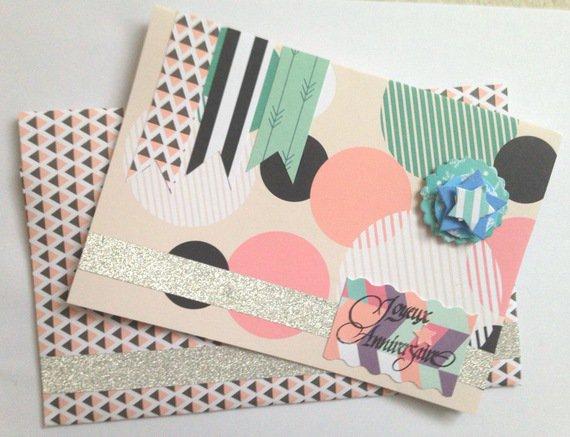 Carte d'anniversaire graphique fait main : Cartes par del-crea-fete
