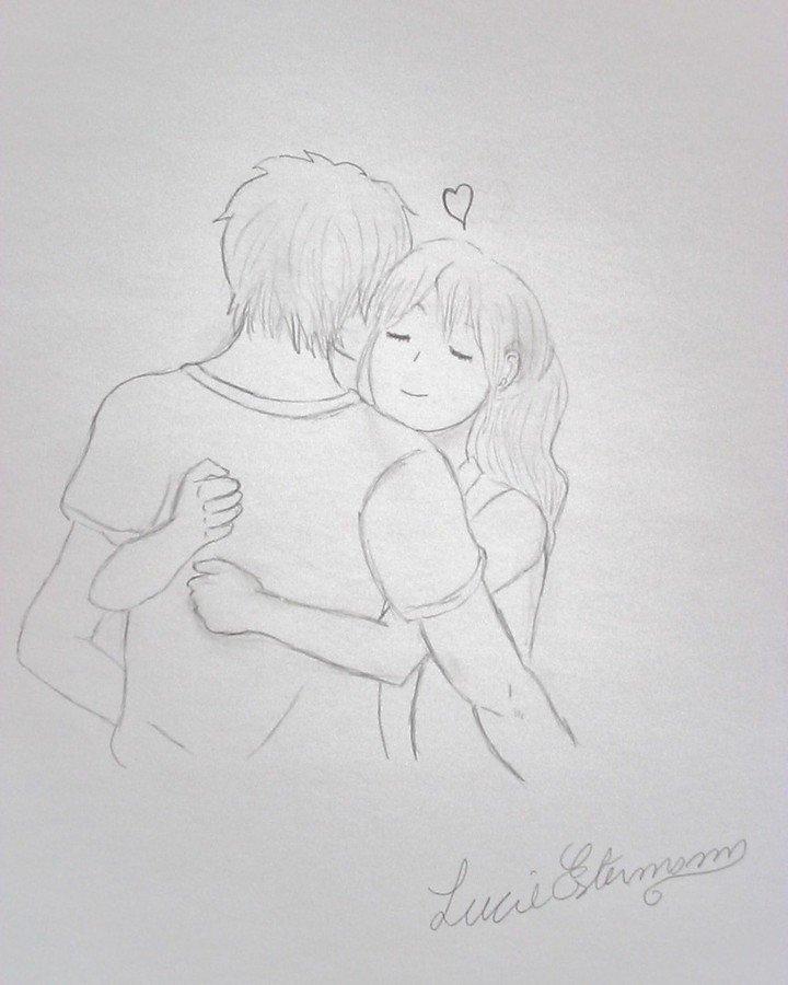 "Dessin de Lucie Estermann on Instagram: ""#mangalove #mangalover #mangadrawing #mangaart #amoureux #amour #love #manga #drawing #couple #kiss #femme #woman #homme #man #2020…"""