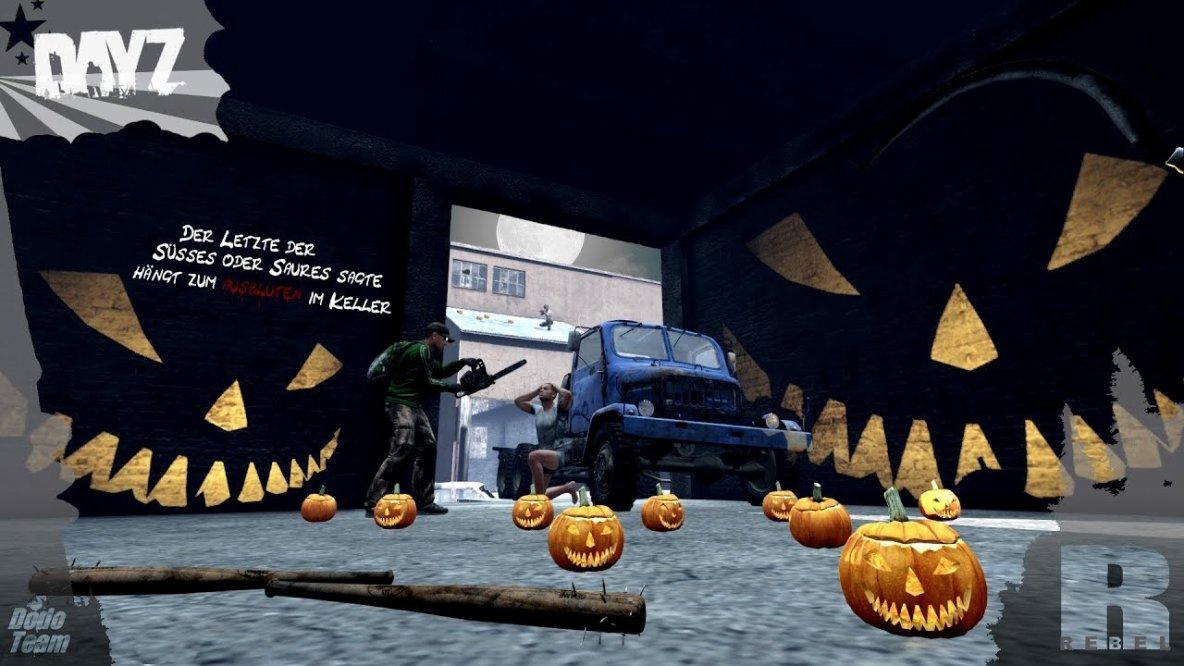 DER LETZTE DER SÜSSES ODER SAURES SAGTE - DayZ Standalone Halloween Event