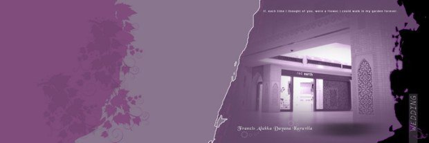 Free Download Amazing Purple Wedding PSD Template Photoshop Design