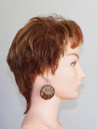 Boucle d'oreille créole en fimo Argent 925