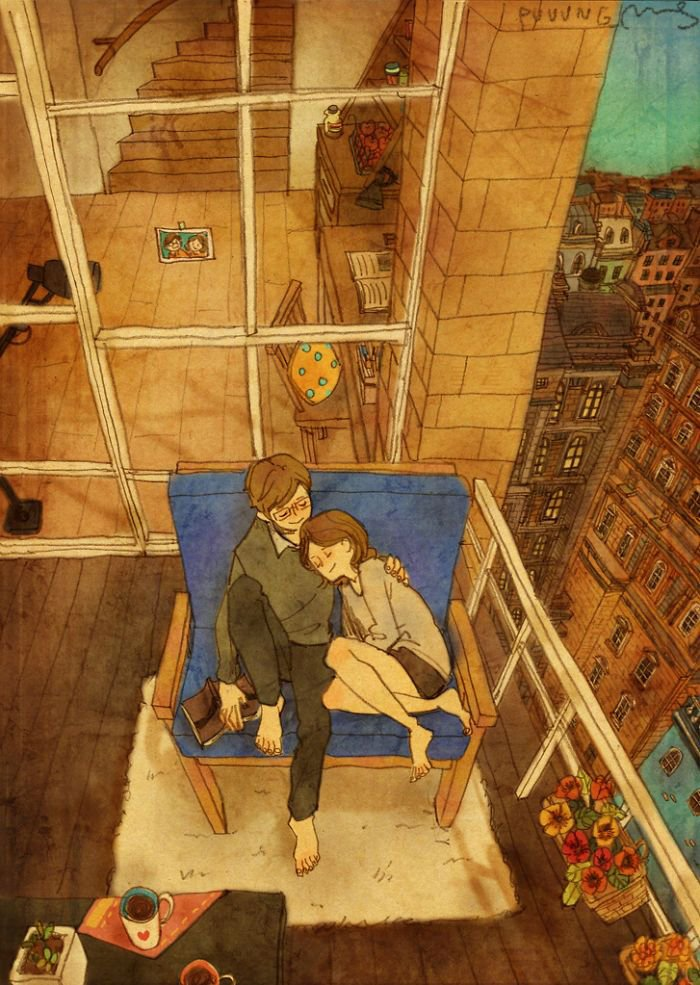 "Artist ""Puuung"" captures those little moments that make love whole in these heartwarming illustrations"