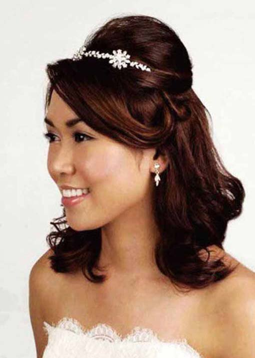 wedding hair:half up tiara wedding hairstyles | the new fashion 2013 and trends