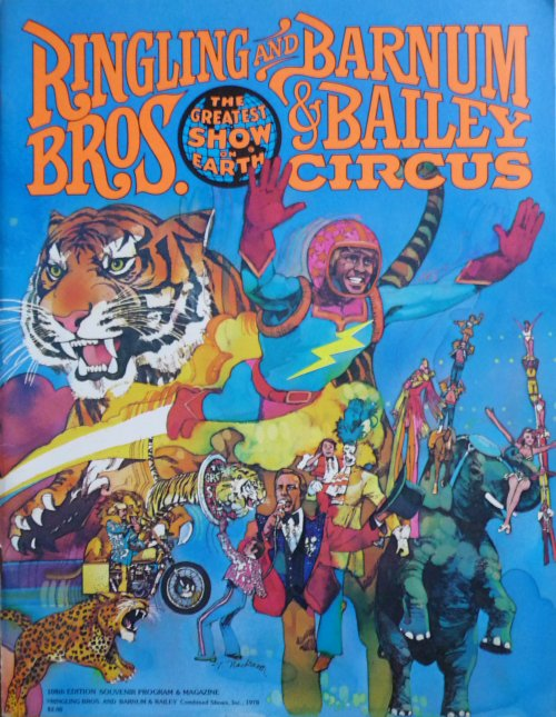 A vendre / On sale / Zu verkaufen / En venta / для продажи :  Programme RINGLING BROS AND BARNUM & BAILEY CIRCUS 108th Edition 1978 - Blue Unit
