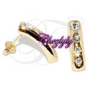 Promo - 15% Boucles d'oreilles Plaqué Or Serti de diamants CZ - chezlyly.com