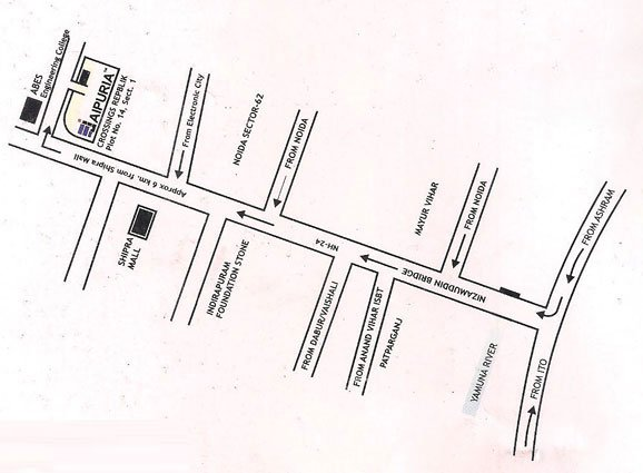 Jaipuria Apartments Location Map