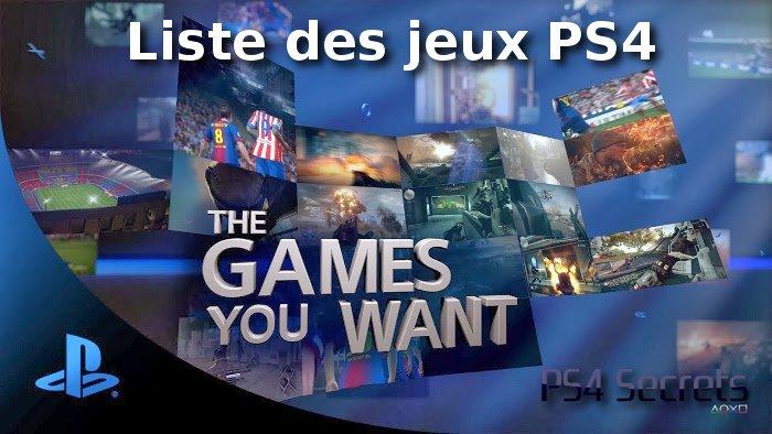 Liste des jeux de la Playstation 4
