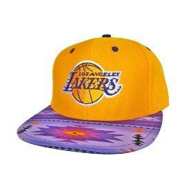 Casquette Los Angeles Lakers Customisee avec un Tissu Imprime Azteque et dessous en Cuir Violet - Snapback Officielle NBA - EDITION LIMITEE: Amazon.fr: Bienvenue