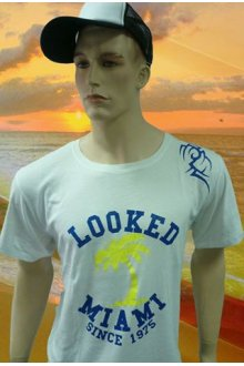"Tshirt Blanc Homme ""UNIVERSITY"" - lOOked MIAMI"