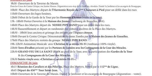 Fête de la Saint-Jean à Gosselies (Place des Martyrs)