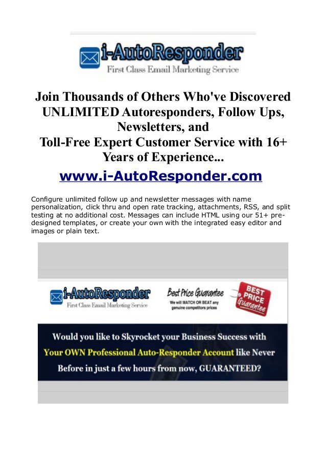 UNLIMITED Autoresponder Service With NO Monthly Fees