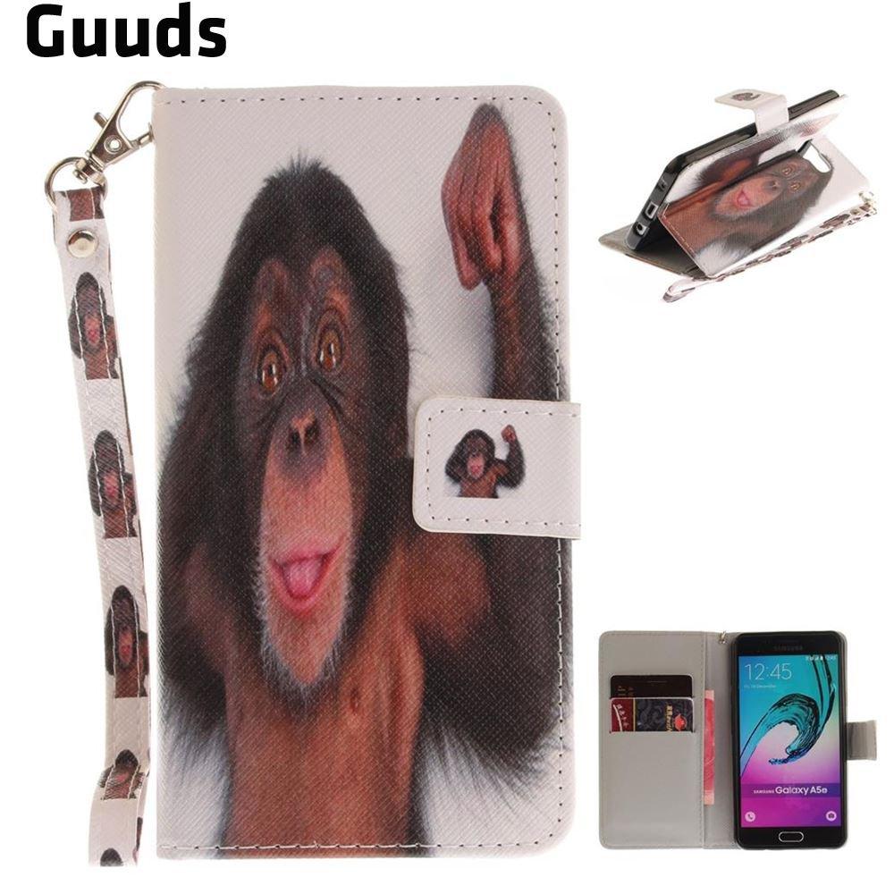 Для Samsung A5 2016 кожаный чехол ручной ремешок кожаный бумажник чехол для Samsung Galaxy A5 2016 A510 Бесплатная доставкак?...