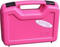 Handgun Gun Pistol Case Foam Padded Hard Locking Carrying Cases Bag Ladies PINK