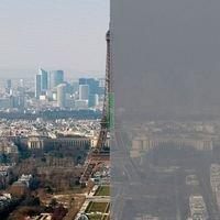 Deux photos pour se rendre compte du niveau de la pollution