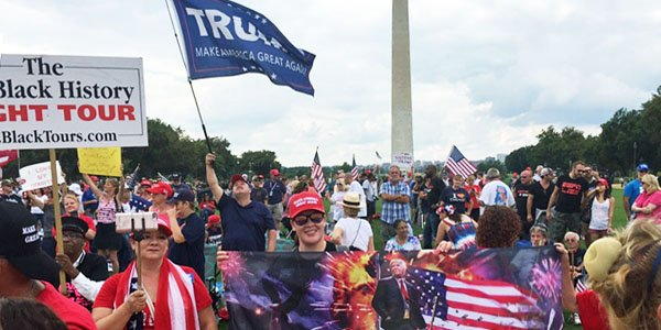 Hundreds of Trump backers hit D.C. to blast media's racist claims