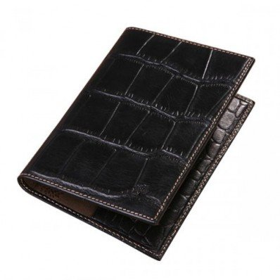 Stylish Mulberry 5 Slots Printed Leathers Passport Cover Black Online UK