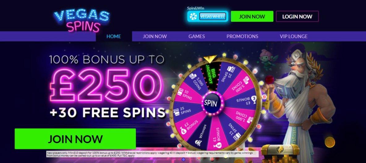Vegas Spins Online | Play Best Online Casino & Slots Games Online