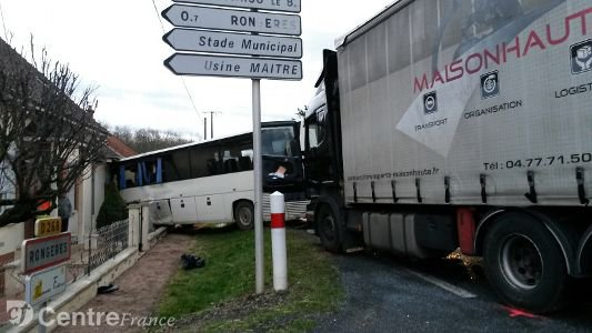 RN7 : deux blessés graves dans une collision entre un bus et un poids lourd