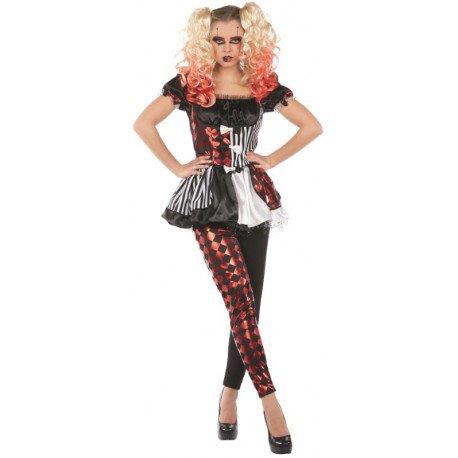 Déguisement arlequin femme Halloween : Déguisements arlequin Horreur