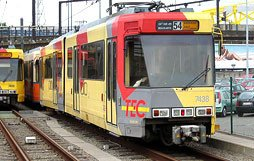 Les rames du métro - Métro Léger de Charleroi