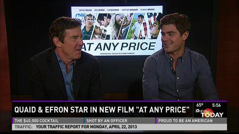 "Dennis Quad and Zac Efron in ""At Any Price"""