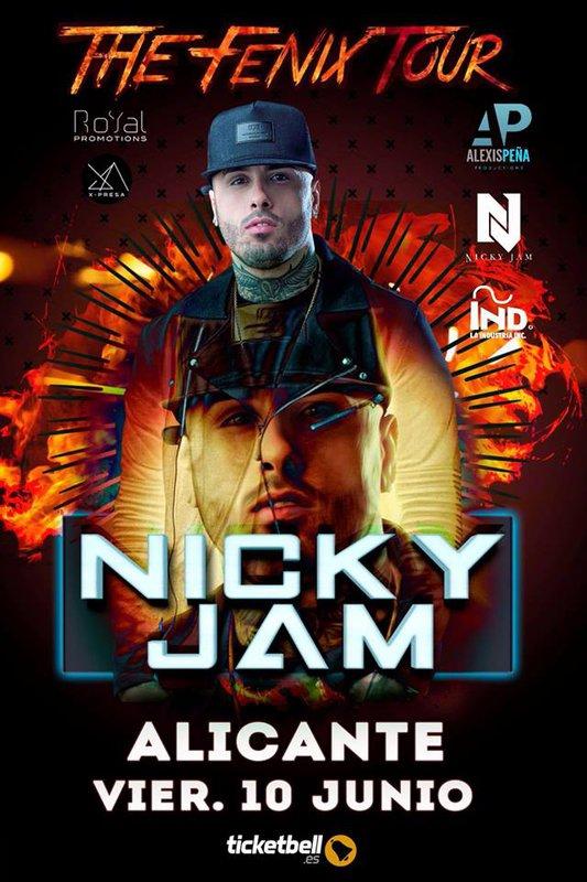 NICKY JAM EN CONCERT A ALICANTE (ESPAGNE)LE 10 JUIN 2016 - LE BLOG DE TONY DIMARINELLO