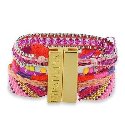 meilleures baskets 547e7 878fb Bracelet manchette Hipanema Fluopurple Multicolore ...