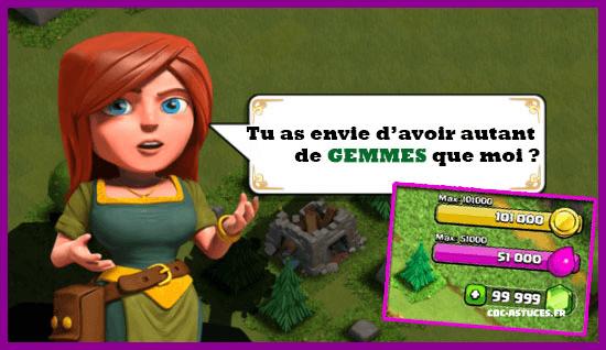 comment modifier ces gemmes clash of clans | Astuce Clash Of Clans Triche