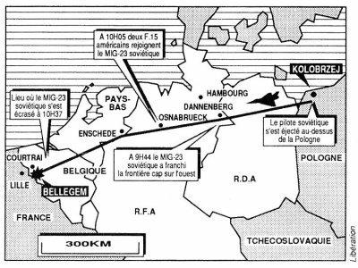06-07-1989 - Accident Grave d' un avion Russe Mig 23 en Belgique à ...