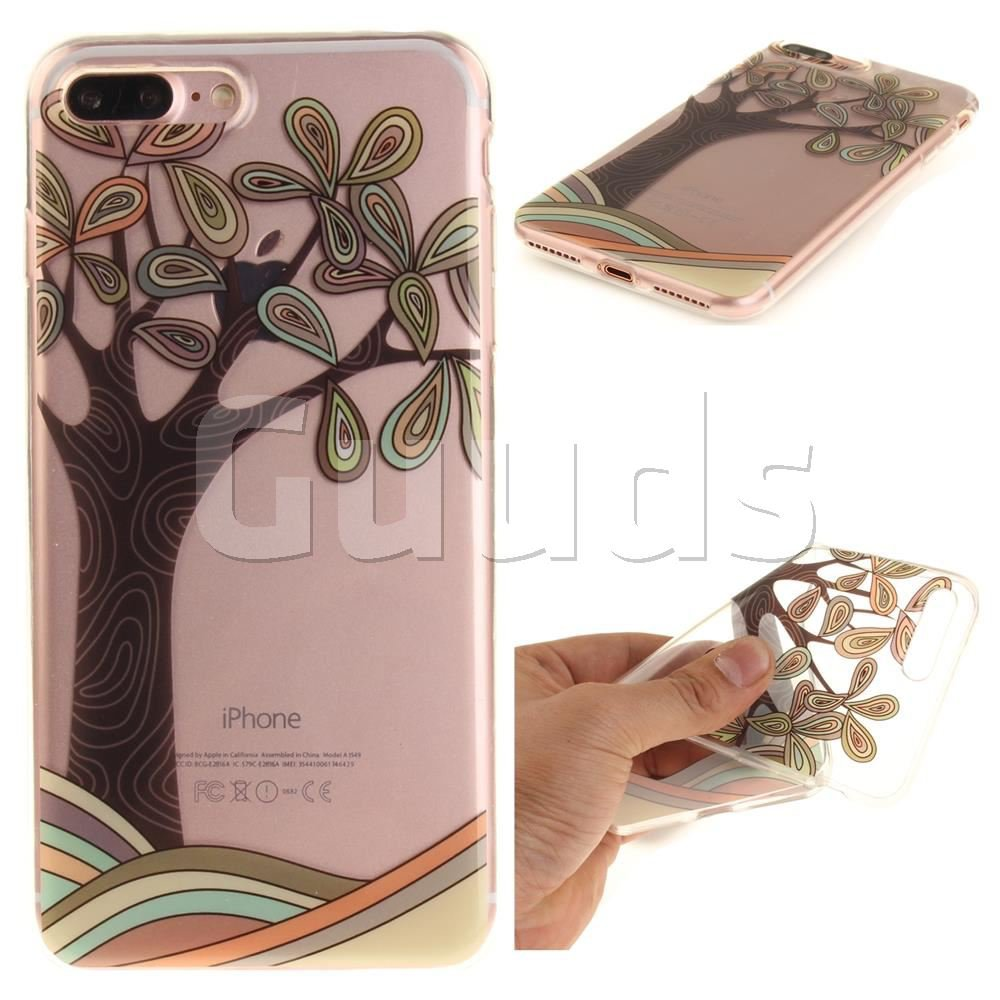 Hand Painted Tree Super Clear Soft TPU Back Cover for iPhone 7 Plus 7P(5.5 inch) - TPU Case - Guuds