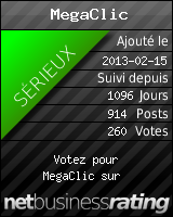 MegaClic.fr - Gagnez de l'argent avec la publicit? ! Clics & Inscriptions r?mun?r?s !