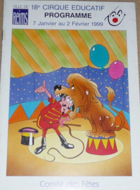 Programme 18ème Cirque Educatif de la ville de Reims 1999