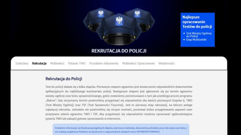 Testy do Policji w 2017 roku - jak je przejść aby zostać policjantem?